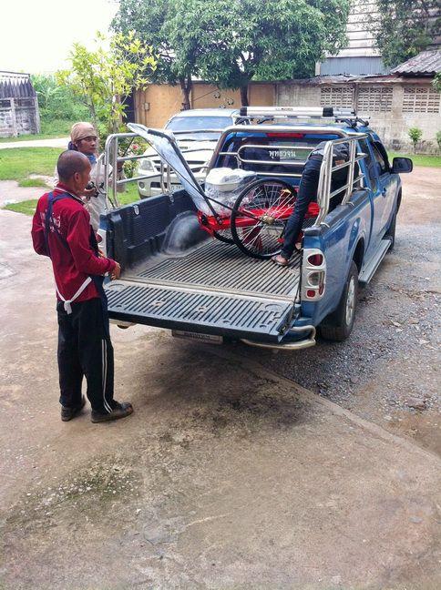 รถตัดหญ้า 2 ล้อจักรยาน ล้อยางตัน พร้อมอะไหล่ ติดตั้งเครื่องยนต์