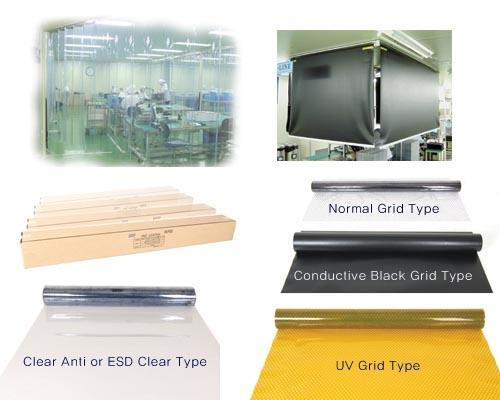 Cilck ม่านพีวีซีป้องกันไฟฟ้าสถิตย์ / Conductive PVC Sheet