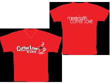 เสื้อ Coffee Loveสีแดง