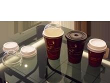 ถ้วยกาแฟสวัสดี ร้อนเย็น