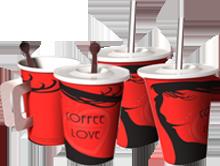 ถ้วยกาแฟคอฟฟี่เลิฟ