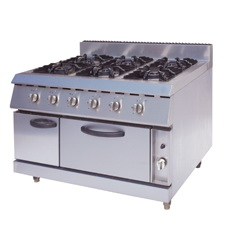 Gas Range With 6-Burners & Electric Oven