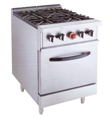 Gas Range With 4-Burners & Gas Oven