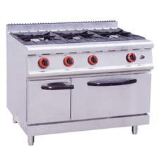 Gas Range With 3-Burners & Gas Oven