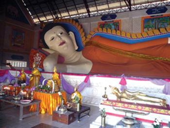 พระพุทธไสยาสน์หรือพระนอนวัดวารีบรรพต(วัดบางนอน)