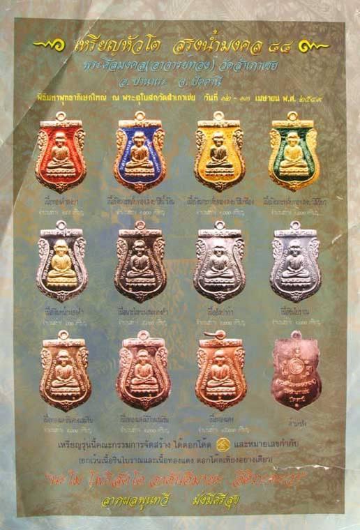 รายละเอียด เหรียญเสมาหัวโต รุ่นสรงน้ำมงคล88 อาจารย์ทอง วัดสำเภาเชย