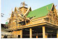 ก่อสร้างพระวิหารคต วัดนก