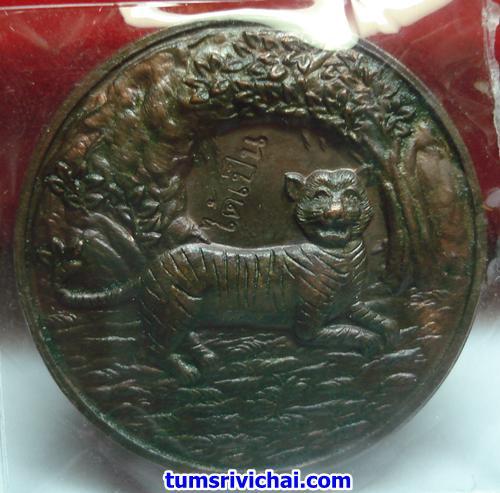 เหรียญทองแดง เสือนอนกิน อาจารย์ประสูติ วัดในเตา