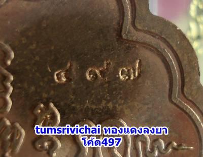 เนื้อทองแดงลงยา รุ่นนิรันตราย หมายเลข497