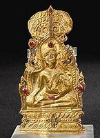 พระพุทธรูปดุนทอง กรุพระปรางค์ วัดราชบูรณะ