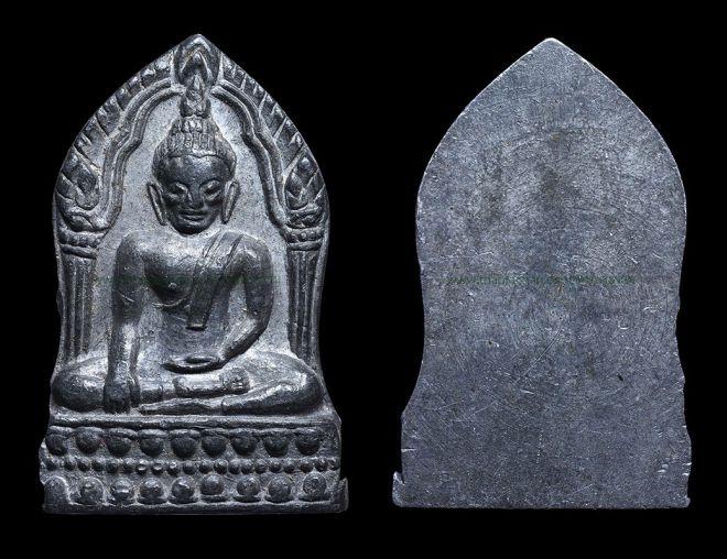 พระพุทธชินราชใบเสมา เนื้อตะกั่วปี2515 พิธีจักรพรรดิ์มหาพุทธาพิเษก