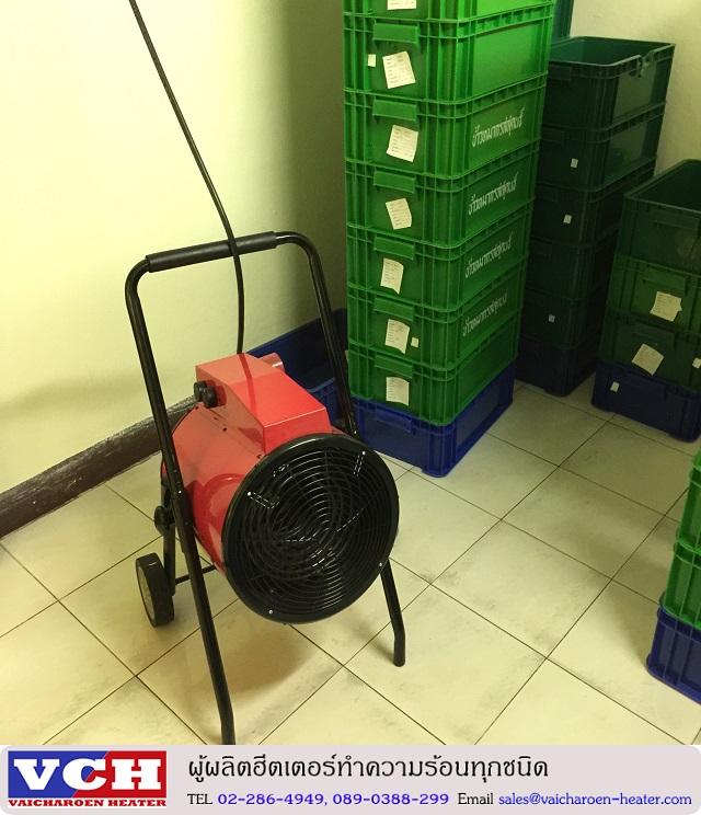 พัดลมฮีตเตอร์ รุ่น 15000 วัตต์ เพิ่มอุณหภูมิห้องเก็บอาหาร
