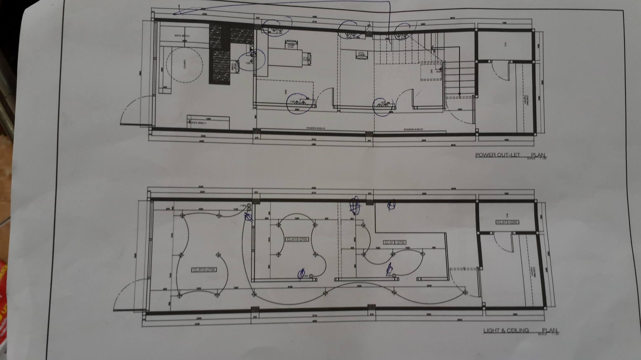 แผนผัง งานไฟฟ้าในอาคาร