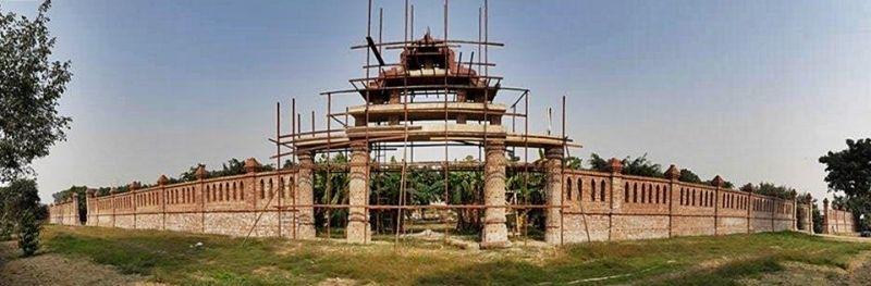 งานก่อสร้างซุ้มประตูวัดไทยเชตวันมหาวิหาร
