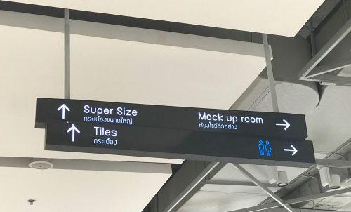 Hanging directory ป้่ายบอกทางแขวนผนัง