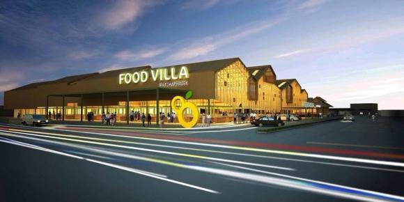 รูปแบบป้ายหน้าโครงการ Food Villa ราชพฤกษ์