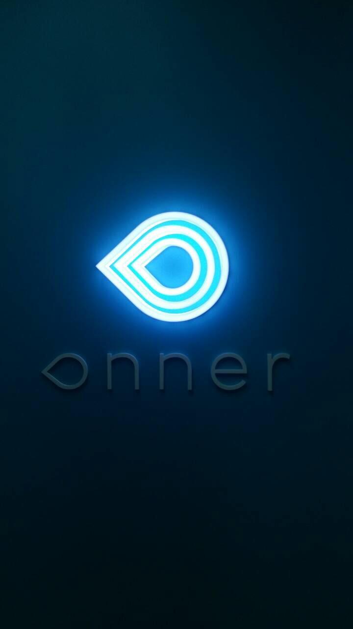 ป้ายภายในสำนักงาน Onner; กล่องไฟโลโก้่ Onner