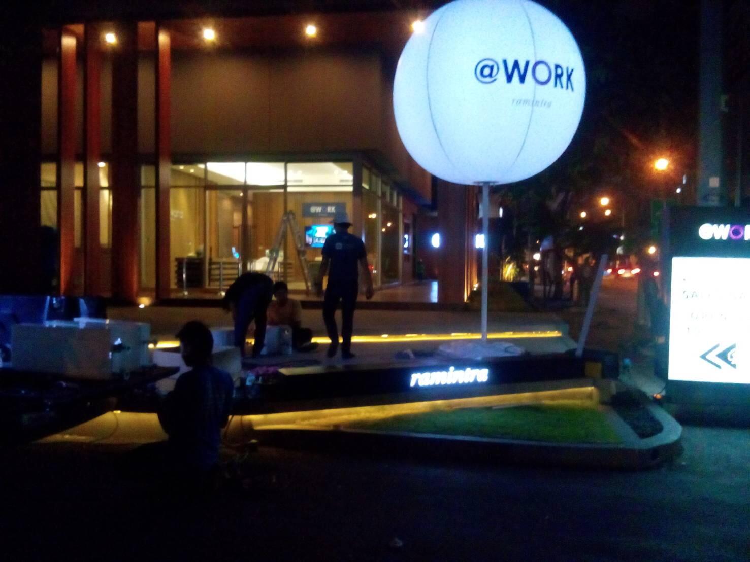 กล่องไฟอะคริลิก @WORK รามอินทรา