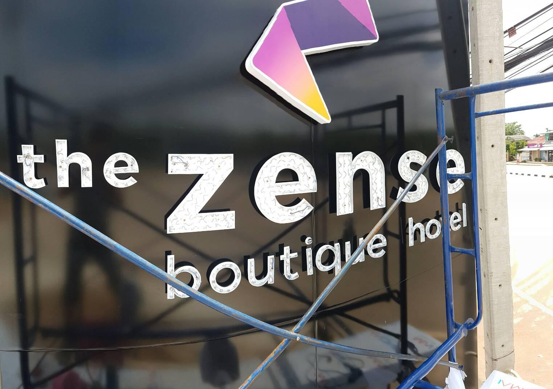 กล่องไฟอะคริลิก ป้ายหน้าโรงแรม The Zense พิษณุโลก