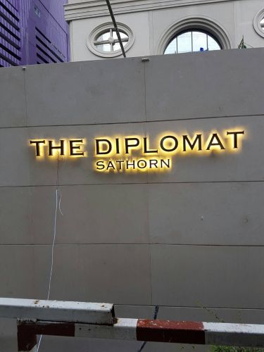 ป้ายต่างๆ ภายในคอนโด the diplomat สาทร
