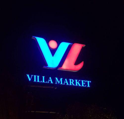 ป้ายไฟโลโก้ Villa Market The Circle ราชพฤกษ์