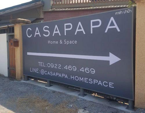 ป้ายไฟ 1 หน้า Casa Papa