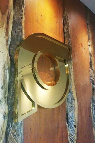 logo Stainless Gold Mirror