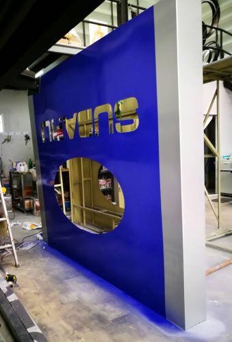 งานทำสีอุตสาหกรรม, 2K ป้าย Tower Subaru กาญจนาภิเษก