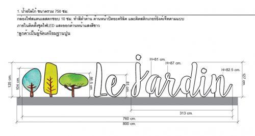 ป้ายหน้าโครงการ le Jardin เลอ ชาแดง ปากเกร็ด