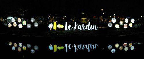 ป้ายไฟตั้งพื้น ป้ายหน้าโครงการ le Jardin เลอ ชาแดง ปากเกร็ด