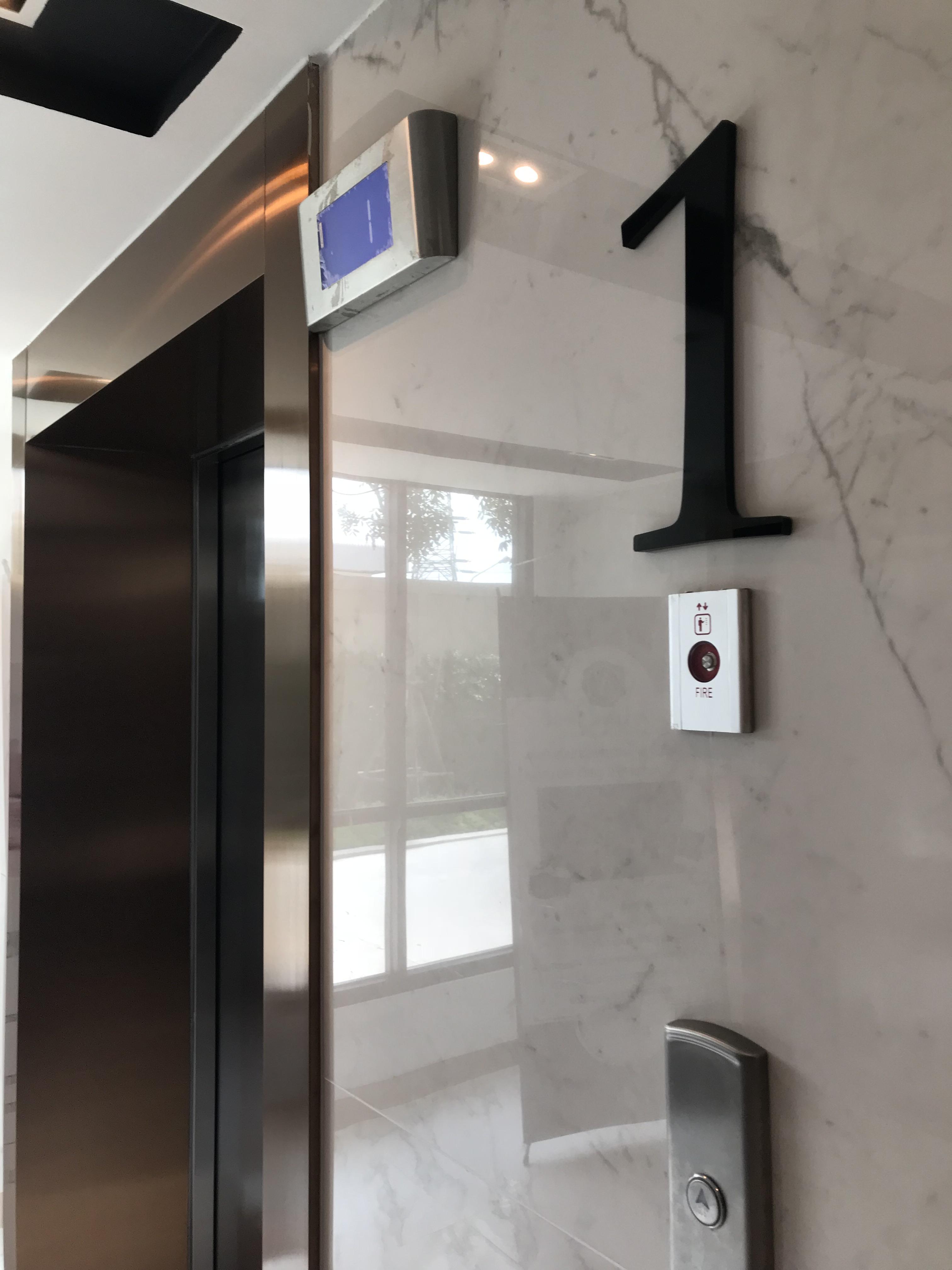 เลขบอกชั้นหน้าลิฟต์ โครงการ Notting Hill แหลมฉบัง